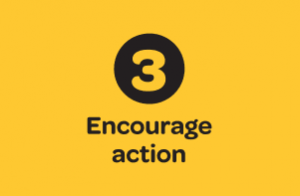 3. Encourage Action