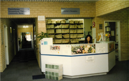 Old reception Weddall Road 1990